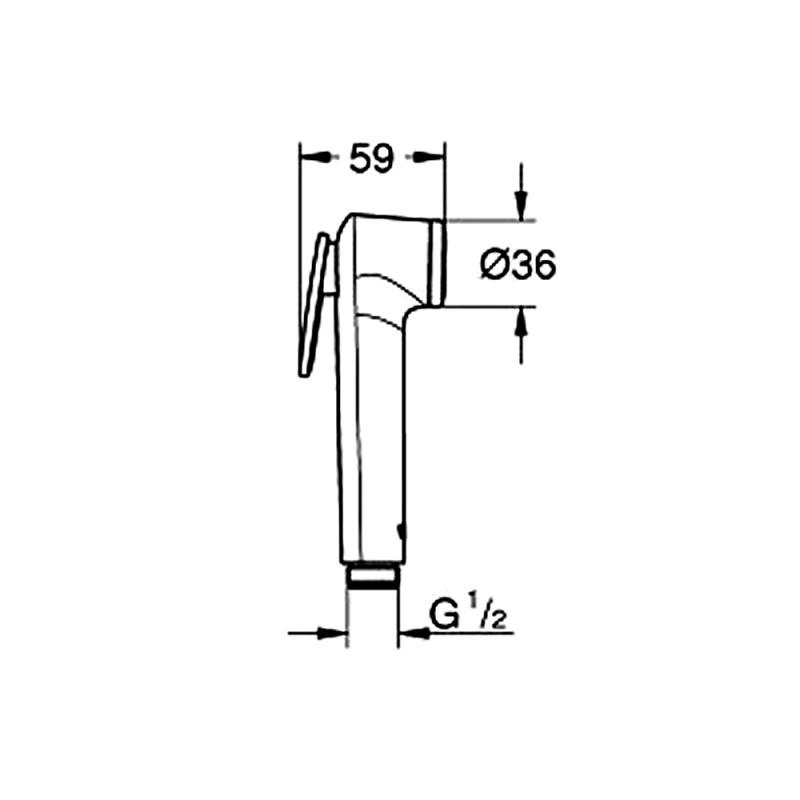 Лейка душевая гигиеническая GROHE Tempesta-F Trigger Spray 27512001
