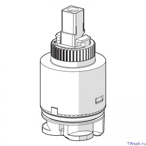 Сменный керамический картридж для однорычажных смесителей Oras.
